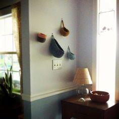 catchall hanging crochet baskets