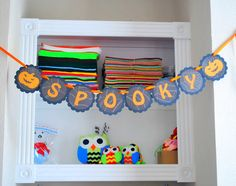 Spooky Banner Jack lantern banner  One of a Kind by Mariapalito, $14.00