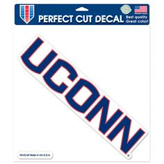 UConn Huskies WinCraft 8'' x 8'' Color Car Decal - $7.19