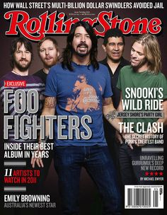 """Foo Fighters """"Rolling Stone"""" May 2011"""