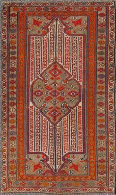 "KEIVAN WOVEN ARTS,   Type :Malayer Origin :Iran  Size : 3'4""x5'8""  Circa :1900"