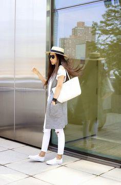 GiGi New York | Shall We Sasa Fashion Blog | Mini Taylor Tote White Python Embossed Leather
