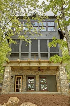 Silverock Cove at Smith Lake, Alabama -- Dungan Nequette Architects - my family has a lake home there! Lake Cabins, Cabins And Cottages, Smith Lake Alabama, Cottage Exterior, Exterior Houses, House Exteriors, Haus Am See, River House, Exterior Colors