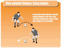 Five minute fitness: Step jumps
