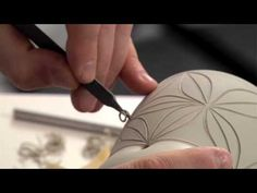 ▶ Pottery Video: Carving with Care - How to Carve Exquisite Patterns on a Mug | ADAM FIELD - YouTube