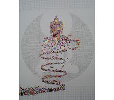 """Representation of the unconscious self.""     Gonkar GyaTso - Contemporary Tibetan Art"