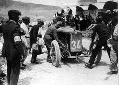 Targa Florio 1921 , Equipe Alfa Corse , Alfa Romeo 40/60 #34  , Driver Giuseppe Campari,., Third place overall