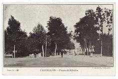 Paseo de Ribalta : Castellón (s.a.) - Santamaría Painting, Outdoor, Image, Walks, Antique Photos, Outdoors, Painting Art, Paintings, Painted Canvas