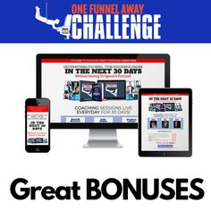 Join The One Funnel Away Challenge And Get All These Amazing Bonuses! The Way You Are, Perfect Photo, Great Photos, Helping Others, Internet Marketing, The Cure, Thats Not My, Investing, Challenges