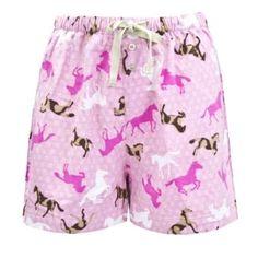 Leisureland Women's Cotton Flannel Pajama Sleepwear Lounge Boxer Shorts Horse Print Pink Large Leisureland. $12.99