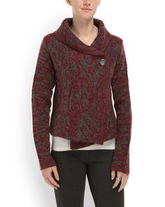 Marilyn Collar Sweater Jacket - Sweaters - T.J.Maxx