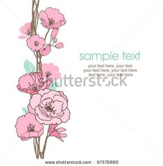 card with stylized cherry blossom and text by lozas, via Shutterstock