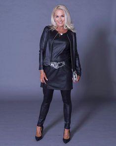 Tekstiilinahkainen leggings Musta
