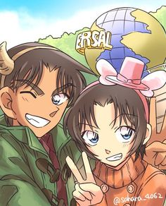 Resultado de imagen para heiji y kazuha