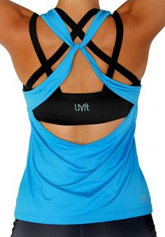 a great workout shirt but I want to try to make this with a button securing one  of the front straps. maybe from the lime shirt. Athletic Wear, Athletic Outfits, Sport Outfits, Athletic Clothes, Gym Outfits, Workout Attire, Workout Gear, Workouts, Workout Outfits