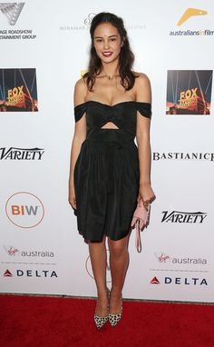 Courtney Eaton at the 2014 Australians in Film gala dinner in LA.