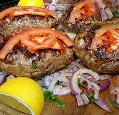 Greek Recipes, Meat Recipes, Cooking Recipes, Healthy Recipes, Food Network Recipes, Food Processor Recipes, The Kitchen Food Network, Minced Meat Recipe, Greek Cooking