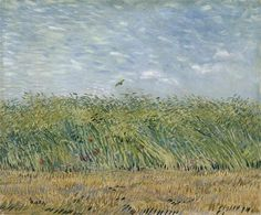 Vincent van Gogh (1853-1890), Wheat Field with Partridge, Summer 1887. Oil on canvas, 34 x 66 cm. Van Gogh Museum, Amsterdam.