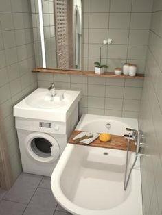 Claro Grande vegg montert servant I Cast Stone og Vario skreddersydd badekar