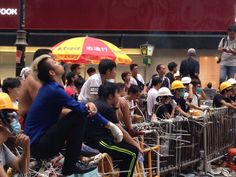 Umbrella Movement protesters in Mong Kok.