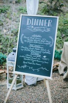 Southern wedding - dinner menu