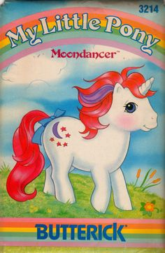 Butterick  1980s  My Little Pony Pattern  MOONDANCER Arabesque 11 1/2 inches  Vintage Stuffed Animal  Sewing Pattern UNCUT