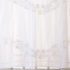voile on the windows