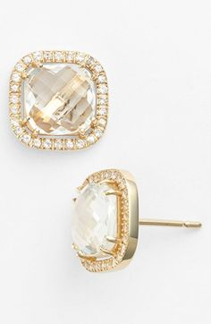 KALAN by Suzanne Kalan The perfect Stud!!! Cushion Stone Stud Earrings available at #Nordstrom