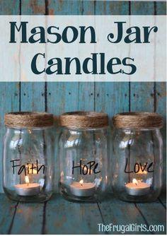 DIY Mason Jar Candles! ~ at