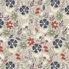 """Retro Flora pattern design. New colour version for 2015. #annadeegan #surfacepattern #textile #florals #pattern #illustration"" Photo taken by @annadeegan on Instagram, pinned via the InstaPin iOS App! http://www.instapinapp.com (01/07/2015)"