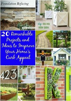 20 Easy Curb Appeal projects and ideas Anyone Can Do (cheap and easy!)