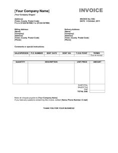 BusinessCaseTemplate  Excel Invoice Template