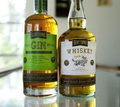 Saint Thomas Gin & Whiskey Liquor Packaging