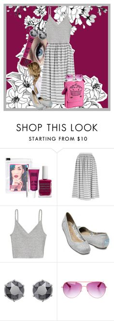 """""""Gray"""" by gabi-girl ❤ liked on Polyvore featuring Obsessive Compulsive Cosmetics, Temperley London, TOMS, Swarovski and Miso"""