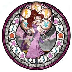 Meg (Megara) - Kingdom Hearts Stain Glass by on deviantART Megara Disney, Disney Pixar, Disney And Dreamworks, Disney Cartoons, Walt Disney, Disney Characters, Disney Princesses, Disney And More, Disney Love