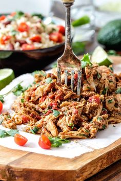 Slow-Cooker-Shredded–Mexican-Chicken... Perfect for rolling up in a tortilla with a little cheese...