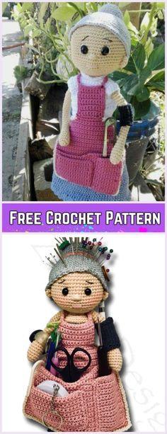 Crochet Crafter Granny Doll Amigurumi Free Pattern by Tinkerbella1