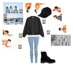 """""""Got7 Fly Inspired Outfit"""" by tonisha1994 ❤ liked on Polyvore featuring Topshop, MaxMara and Dr. Martens"""