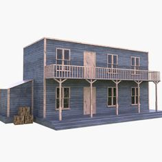 Model Trains, Wild West, Buildings, Scenery, Architectural Styles, Models, 3d, Texture, Country