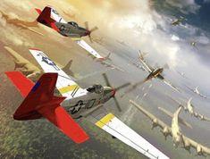 Tuskegee Airmen, Aviation Art, Model Airplanes, Cover Art, Fighter Jets, Aircraft, Digital Art, Wall Art, Artwork
