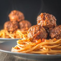 Spaghetti and Meatballs, an all time favorite that I am sure every cook has a version of, this is mine complete with pine nuts!