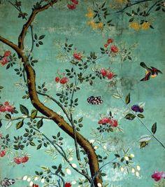 Papier mural chinois. XXVIII° siècle