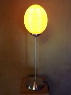 Ostrich eggshell table lamp by Phases Africa
