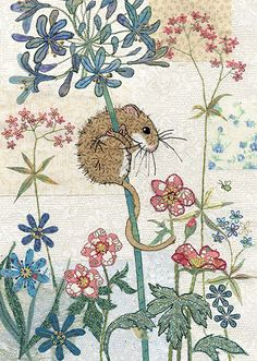 Harvest Mouse - Bug Art greeting card