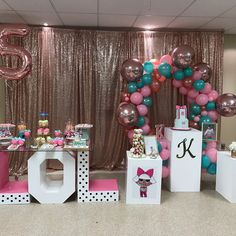 """- Saavy Event Decor (@saavyeventdecor) on Instagram: """"Yesterday's LOL Surprise Doll theme party was a hit! Thank you @marqueeletterstoronto for the…"""""""