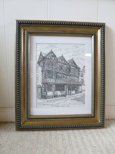Vintage Picture The Feathers Hotel Ludlow 1619 Tudor