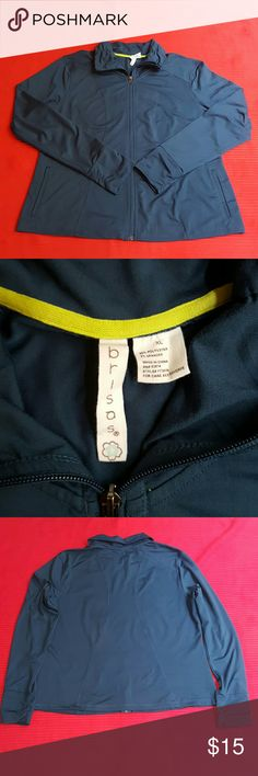 Brisas Activewear jacket In good used condition, nothing wrong with it zipper is working, has2 pockets (not heavy) Color is like a navy. Comes from a smoke free home, I do have fur babies but I check my items before shipping. I apologize if I miss one or two ?? Armpit to Armpit 22 Shoulder to shoulder 18 Length 25 Sleeve 25.5 Brisas Jackets & Coats
