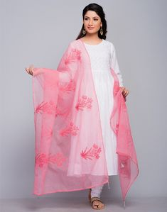Fabindia is India's largest private platform for products that are made from traditional techniques, skills and hand-based processes. Silk Kurti Designs, Churidar Designs, Blouse Designs, Party Wear Indian Dresses, Pakistani Dresses Casual, Modest Fashion Hijab, Fashion Dresses, Pink Fashion, Indian Attire