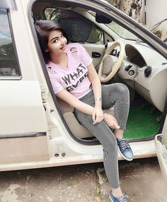 Image may contain: one or more people, people sitting and car Lovely Girl Image, Beautiful Girl Photo, Cute Girl Photo, Beautiful Girl Indian, The Most Beautiful Girl, Stylish Girls Photos, Stylish Girl Pic, Preety Girls, Cute Girls