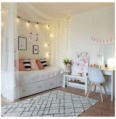 Cute Teen Bedrooms, Cute Bedroom Ideas, Room Ideas Bedroom, Bedroom Girls, Girls Daybed Room, Bedroom Colors, Daybed Bedroom Ideas, Bedroom Designs, Daybed Ideas For Girls